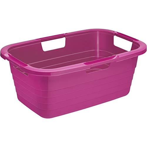 Rotho Wäschewanne Sunshine, Plastik, Pink, 45 x 35 x 25 cm