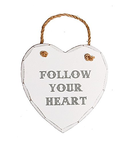 Bell Plaque (Azzaria...Shabby Chic, weiß getüncht, Expression Plaques...Follow Your Heart)