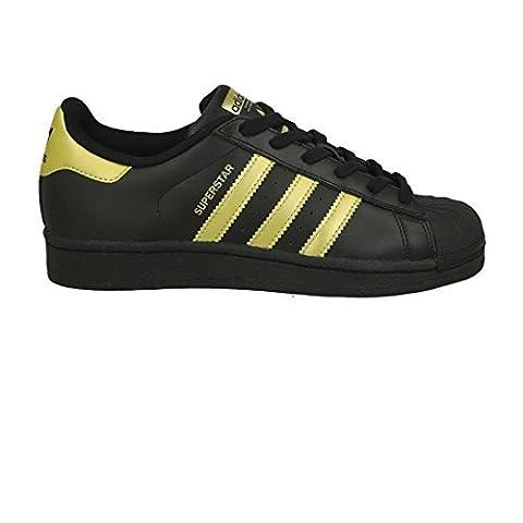 adidas Superstar Junior Black Gold Noir 38