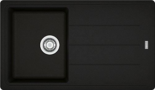 Franke Basis BFG 611-86 Onyx Granit-Spüle Schwarz Spülbecken Einbau-Spüle Küche -