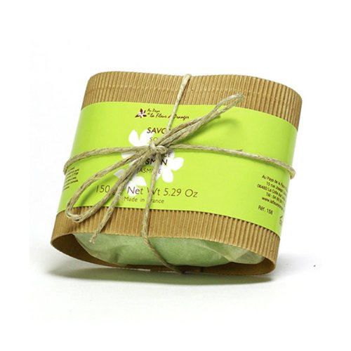 Savon fleur emballage kraft jasmin 150g