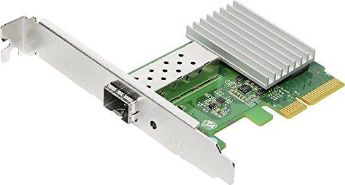 EDiMAX EN-9320SFP+ Adaptador y Tarjeta de Red Fibra 10000 Mbit/s Interno - Accesorio de Red (Interno, Alámbrico, PCIe, Fibra, 10000 Mbit/s, Verde, Plata)