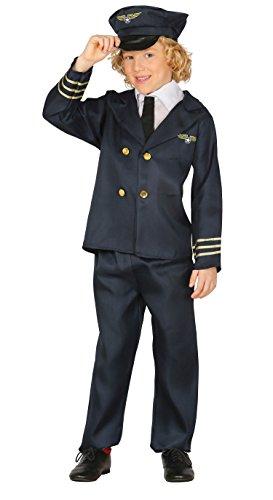 Pilot - Kostüm für Kinder Gr. 110 - 146, Größe:128/134 (Kid Pilot Kostüm)