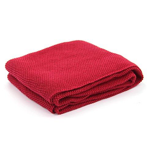 drcosy 100% manta de algodón colcha, de punto, acogedor y cálido sof