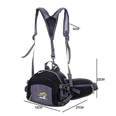 Smarstar - Sac banane sac sacoche pour Sport Randonnée Voyage Cyclisme Sac Alpinisme Sac de taille Forfait vélo Sac à dos Pocket Duffle Bag sport en plein air Sacoche sac à bandoulière sac de nylon