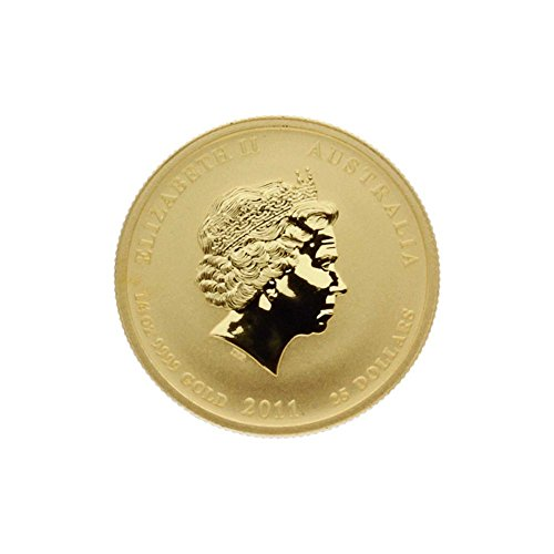 "1/4 oz Australien 2011 Lunar II ""Year of the Rabbit"" (Hase) 0,25 Unzen 999,9 Gold"