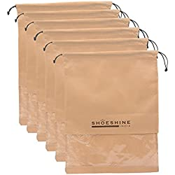 Shoeshine India Beige Shoe Bags(Pack Of 6)