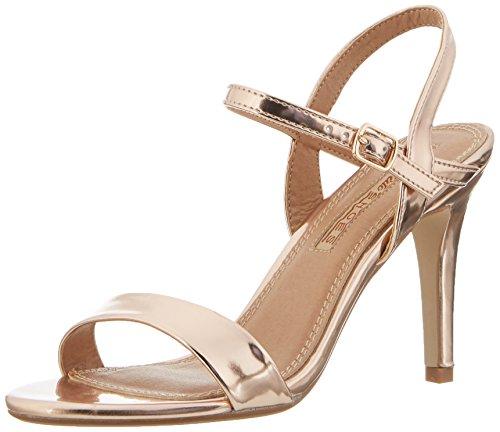Buffalo Shoes Damen 314258 Metallic PU HM 333 Knöchelriemchen, Beige (Champagne 01), 37 EU
