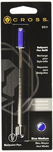 Cross Kugelschreiber-Ersatzmine (Standard medium) blau (Kugelschreiber Standard Cross)