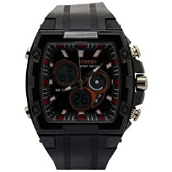 Ohsen YI-AD0918-1 Waterproof Case Multifunction Analogue Watches Black