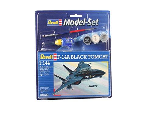 Revell Modellbausatz Flugzeug 1:144 - F-14A Black Tomcat im Maßstab 1:144, Level 3