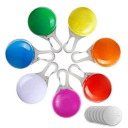 Sicherheits Clip-On LED Licht, 7 Stück wasserdicht Spotlit Hunde/Katzen Halsband Licht mit 2 blinkende Modi, Schlüsselanhänger Blinklicht für Kinder, Läufer, Jogger, Walker, Fahrradfahrer, Outdoor