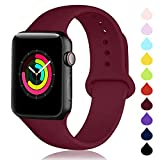 DCMEKA Compatible con para Apple Watch 38mm 42mm 40mm 44mm, Correa de Repuesto de Silicona Suave...
