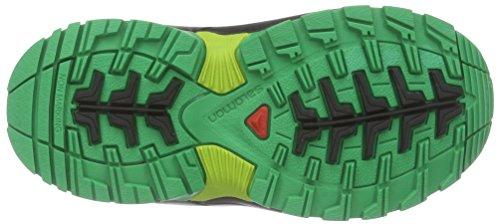 SalomonXA PRO 3D Mid K - Scarpe da trekking e da passeggiata Unisex – Bambini Verde (Grün (Black/Real Green/Granny Green))