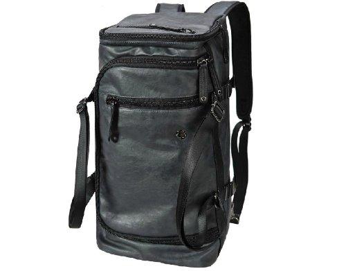 ZeleToile Pro-Multifunción De una capacidad larga Bolsa de PU Mochila de equipaje Bolso al hombro Bolsa casual (azul)