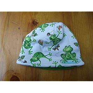 Mütze Babymütze Baby Frosch unisex Frösche Froschkönig warm Geschenk Geburt Mütze Fleece Winter Neugeborene