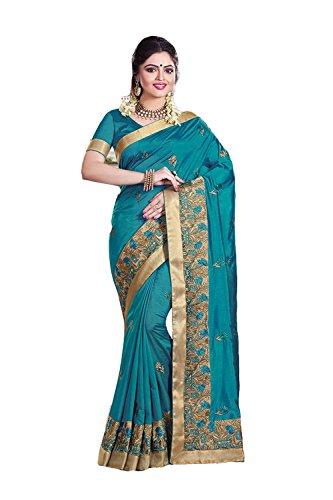 dafacioun-aqua-blue-saree-with-beautiful-embroidered-pallu-79493