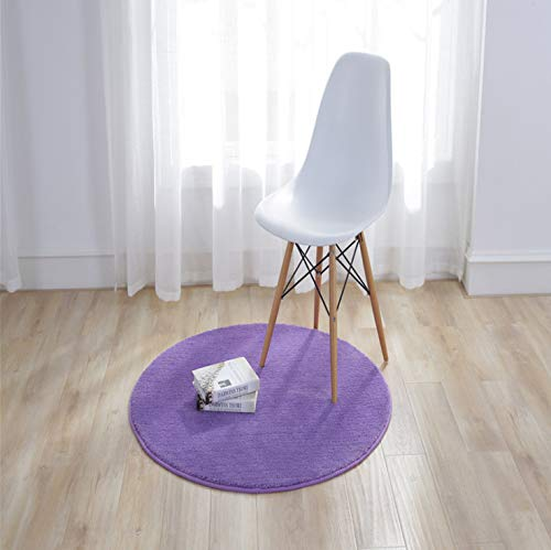 tgbvr Runder einfarbiger Teppich Schlafzimmer Nachttisch Fabrik Großhandel Runder einfarbiger Rutschfester Teppich 90Cm Durchmesser -