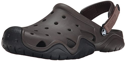 Crocs Swiftwater Clog Men, Herren Clogs, Braun (Espresso/Black), 46/47 EU