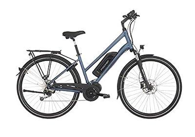 "Fischer Damen - E-Bike Trekking ETD 1820 (2019), saphirblau matt, 28"", RH 44 cm, Mittelmotor 50 Nm, 48 Volt Akku, 422 Wh"