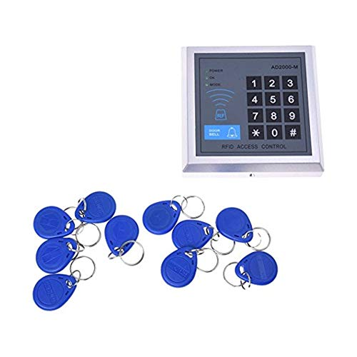 DierCosy Access Control System RFID Home Security Kit Proximity Door Entry Keyboard 10 Key Fobs Exit Button Haushalt Produkte Access Control Entry