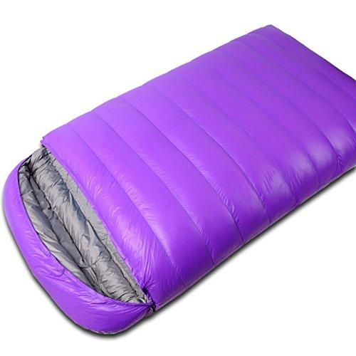 GAOGAS Down Zwei Person Doppel-Schlafsack tragbar und leicht für kaltes Wetter Camping, Wandern, Reisen, Rucksackreisen und Outdoor Aktivitäten ideal für Familie mit Kompression Sack (Ripstop-nylon-shell)