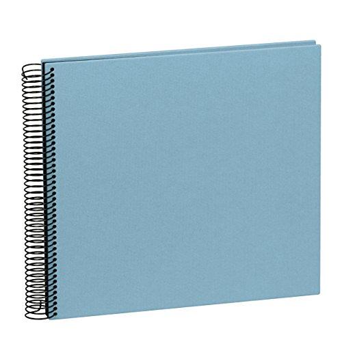 """Semikolon Spirale Album """"Wirtschaft"""" Medium ciel + + + 20Blatt Fotokarton schwarz + + + Scrap-Fotobuch + + + Qualität Hergestellt von Semikolon"""