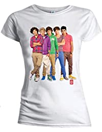One Direction Global Merchandise Women's Crew Neck 1/2 SleeveT-Shirt