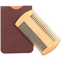 Peine Madera de Pera, Premium Antiestático Durable Peine para El Pelo Barba