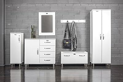 Tenzo 5299-005 Malibu Designer Spiegel, 81 x 57 x 2,5 cm, MDF lackiert, weiß