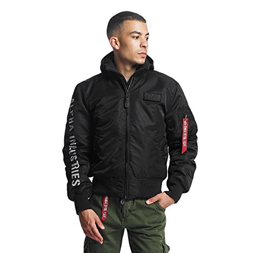 Alpha Industries Herren Jacken / Bomberjacke MA-1 D-Tec SE Flight schwarz XL