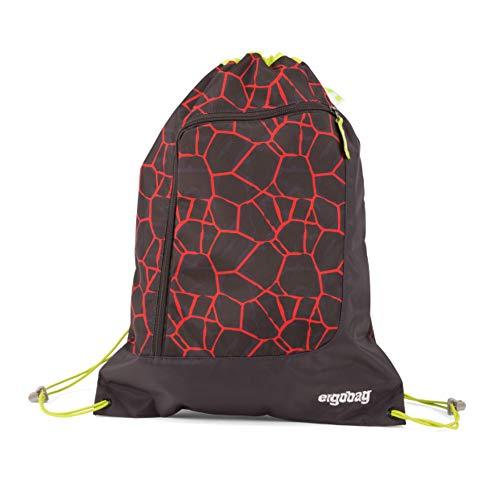 ergobag Gym Bag Prime SupBearhero Fitness- und Trainingstasche Unisex für Kinder, Lava Red Black (Multicolor), Einheitsgröße