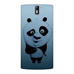 Stylish Panda Puzzled Multicolor Back Case Cover for One Plus One