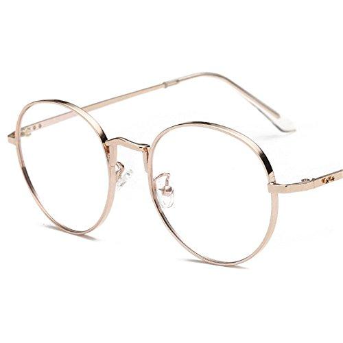 Multi-Frames brillengestell Brillenfassungen Brillen Strahlungsresistent Brille runder Rahmen Brille Roségold