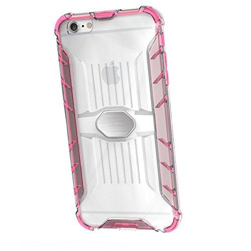 iPhone 6 Plus/6S Plus 5.5 Hülle, Voguecase Transparent Schutzhülle / Case / Cover / Hülle / 2 in 1 TPU + PC für magnetischen Auto Mount Gel Skin für Apple iPhone 6 Plus/6S Plus 5.5 (Schwarz)+ Gratis U Grün