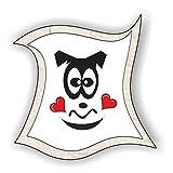jeder-kann-basteln ♥ Sticker-Gesichter-Verliebter Trottel ♥ Kleiner Preis! Lustige Aufkleber (Augen, Nase, Mund) für Kinder (mittel)