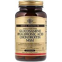 Suplemento en tabletas con glucosamina, ácido hialurónico, chondroitin y MSM Solgar ...