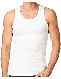 Smart's® -GYM homme Débardeur |Pack de 3 | [ M - XXL ], Blanc / Blanc / Blanc, Small