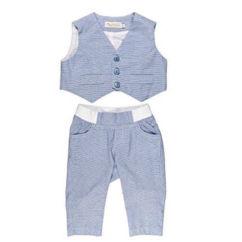 Baby Set für Jungen Taufset Weste und Hose hellblau Nr. 4 (62)