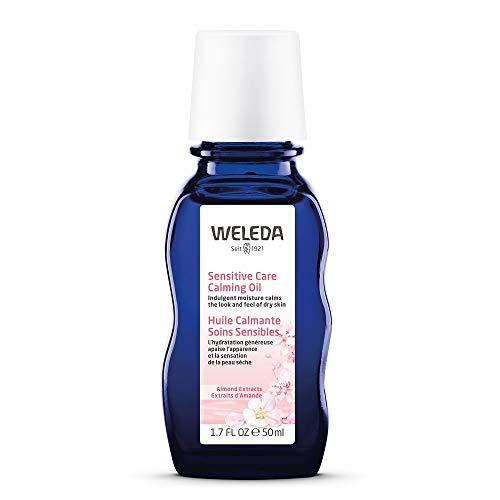 WELEDA Mandel Wohltuendes Gesichtsöl, intensives Naturkosmetik Bio Pflegeöl gegen unreine Haut, Hautirritationen und zur Make-up Entfernung, für Neurodermitiker geeignet (1 x 50 ml) -