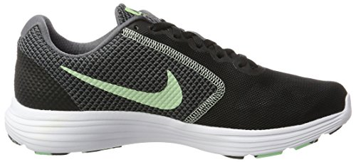 Nike Damen Revolution 3 Laufschuhe Schwarz (Black/fresh Mint-white-dk Grey)