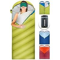FUNDANGO Sacs de Couchage pour Adultes Camping Sacs de Couchage Chaud Léger Sacs de Couchage Temps Froid pour Les Activités de Plein Air