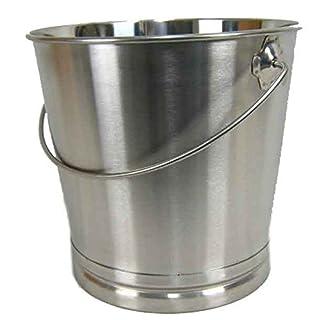 Eimer Kücheneimer Futtereimer Milcheimer Sektkühler Eis-Eimer Edelstahl 14 Liter