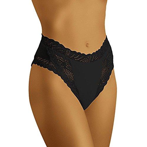 Taille Slip (Wolbar Damen Maxi-Slip Mit Hoher Taille WB55, Schwarz,Medium)