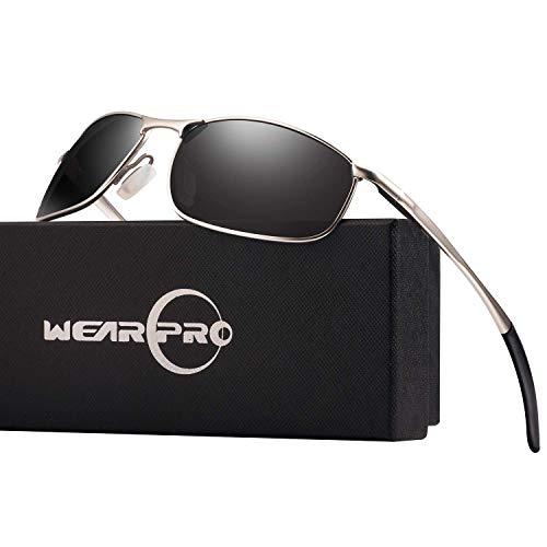 wearpro Men's Sport Polarized Metal Frame Sunglasses HD Lens Hot Fashion...