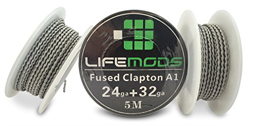 LifeMods Fusing Clapton hitzebeständig A1 Draht Spule AWG 24/32 Gauge 5 Meter / Rolle