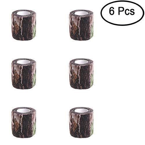 Lergo 6Pcs Army Camo Camouflage Stealth Tape 5cm x4.5m für Outdoor Jagd Shooting Werkzeug, Wasserdicht, 3 (Jagd Verschweigen)