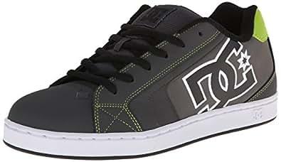 DC Shoes Net pour homme M Chaussures basses - Gris - Gris/vert citron, 47