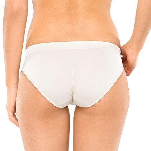 SCHIESSER Damen Minishort Seamless Light 4er Pack Weiß (100)