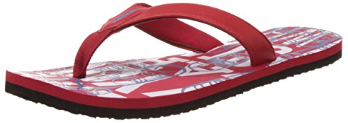 Reebok Men's Solar Flip II Red Rush, Blue and White Flip-Flops and House Slippers  - 6 UK/India  available at amazon for Rs.540